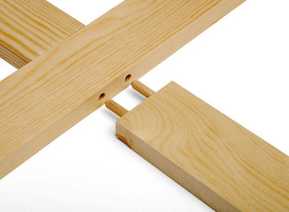 Tee sisustustaulu käden käänteessä! Suurissa kiilakehyksissä on myös välipuut, jotka jäykistävät kehystä. Lovettu välipuu kiinnitetään kehykseen hankoliitoksella ja välipuut toisiinsa puutapeilla.
