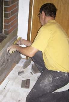 Takan pinta uudistettiin Great -Stonen verhoilukivillä.