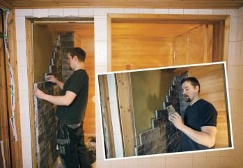 Vanhan saunan purkutyöt tehtiin itse ennen varsinaista remonttia