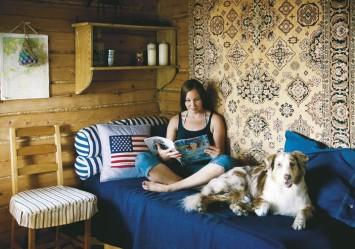 Saunatupa on oivallinen paikka kesävieraiden yöpymiseen.