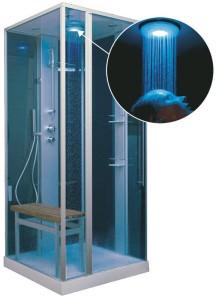 Svedbergsin Cube -höyrysuihkua voidaan käyttää joko pelkkänä suihkuna tai sitten höyrykylpynä