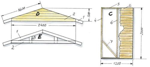Seinäelementti ja kattotuoli