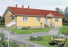 Lapsiperheiden tarpeisiin suunnitellun yksikerroksisen talon yläkertaan voi rakentaa lisää käyttötilaa, valmistaja Villiruusu