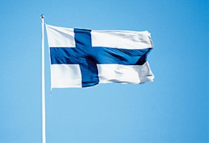 Suomen lippu salossa.