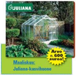 Maaliskuussa palkintona Juliana-kasvihuone