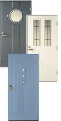 Ulko-ovessa voi olla kuviot vain toisella puolella tai molemmilla puolilla