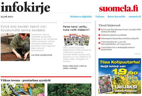 Suomelan uutiskirje 250811 puutarhan syystyöt