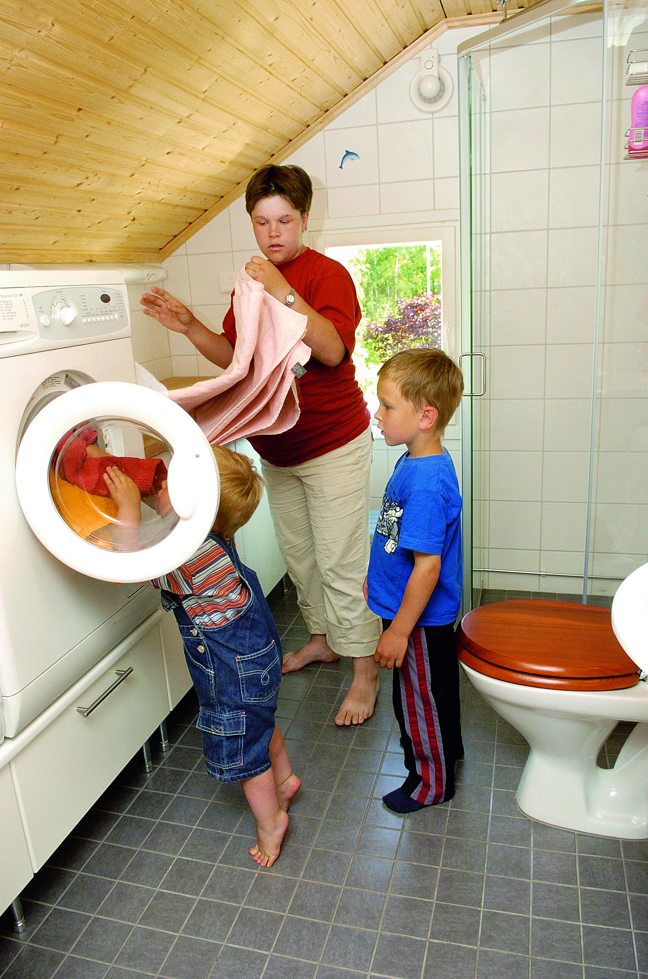 Valmis kylpyhuone on toimiva.