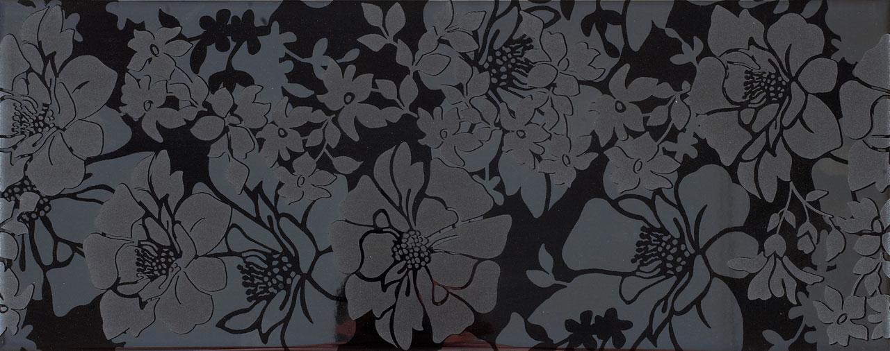 Flover Nero KE 11 kiiltävä musta laatta 20 x 50 cm