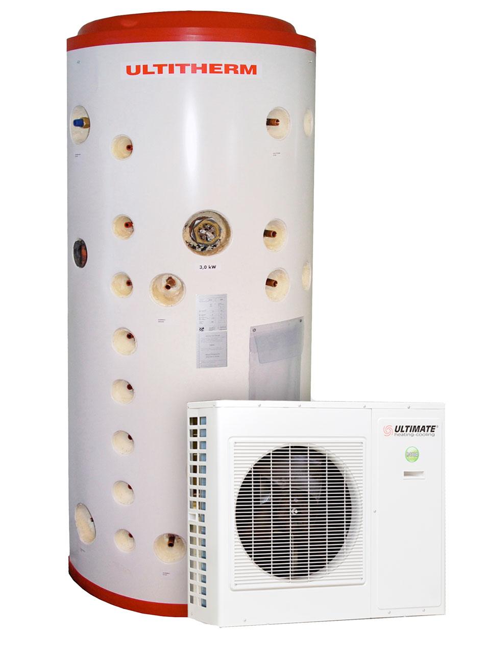 Ultitherm Energiavaraaja 600l ja 9000E ilma-vesilämpöpumppu