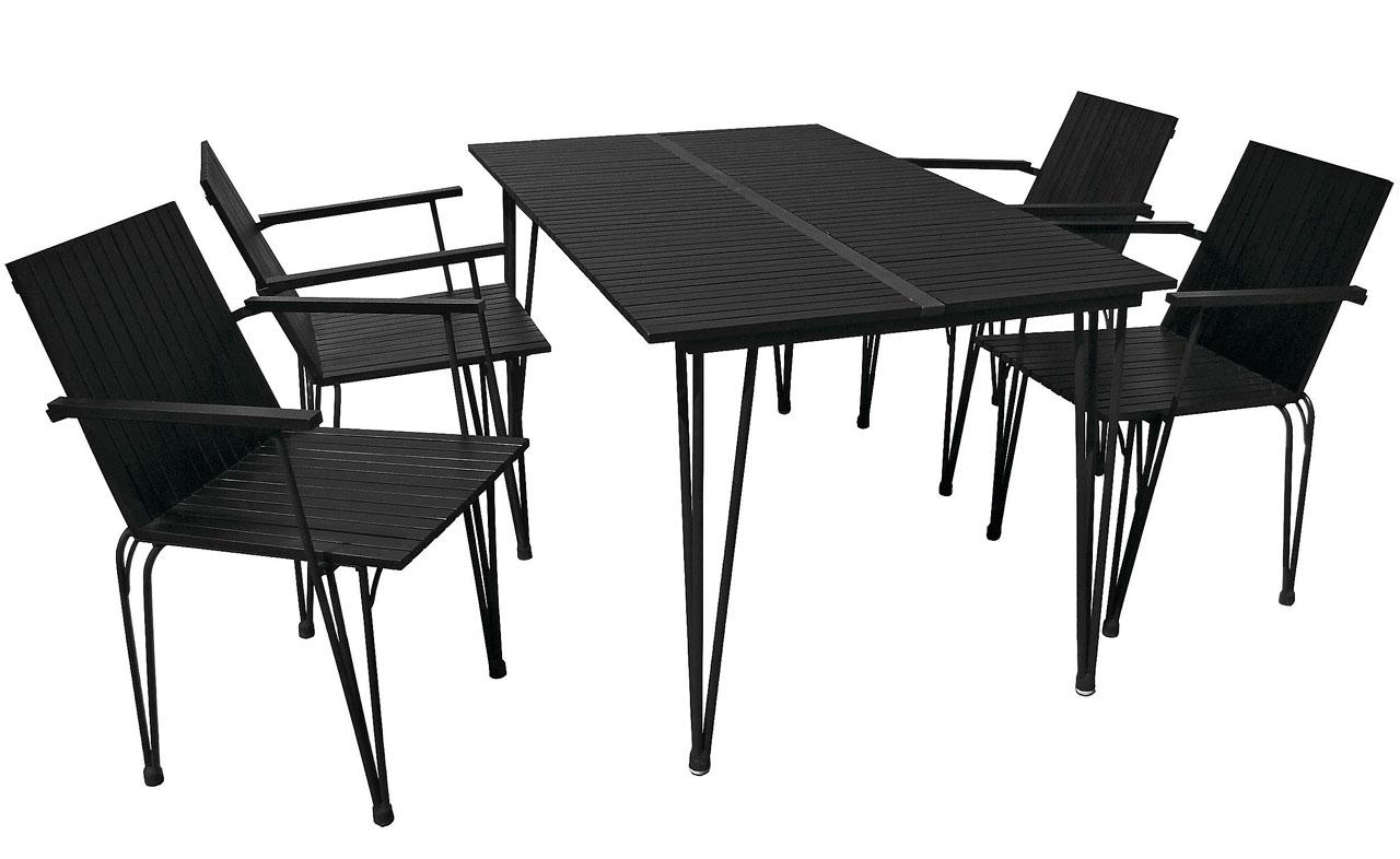 Fishbone-pöytä ja tuolit