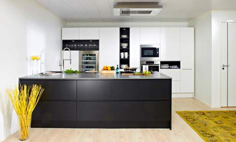 Mustavalkoinen Uoma-keittiö