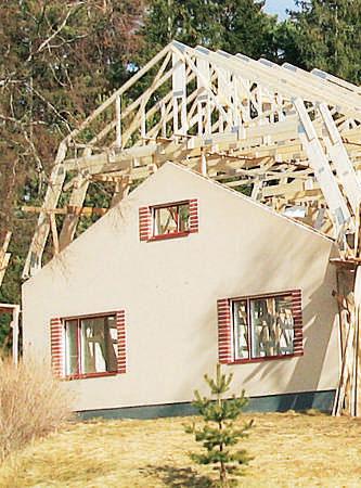 Uusi kerros ja katto Villa Bokulla