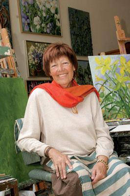 Tanskalainen Anne Just on paitsi taidemaalari, myös itseoppinut puutarhuri ja suunnittelija.