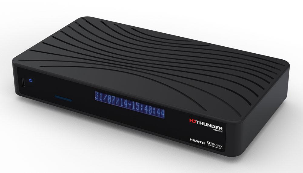 HDThunder HD6000 -digiboxi, jonka ominaisuuksiin kuuluu mm. elokuvien ja TV-sarjojen tilauspalvelu Headweb